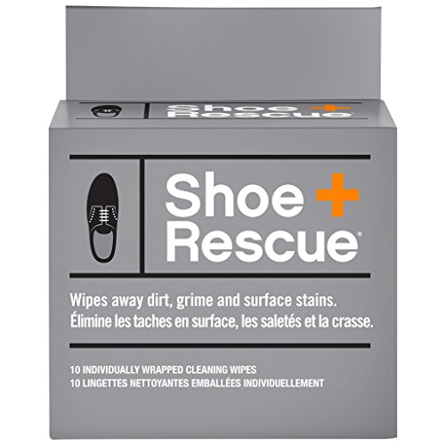 ShoeRescue All Natural Cleaning Wipes for Leather & Suede Shoes & Boots - Box of 10 Indv Wrapped (Best Jordan Shoes To Play In)