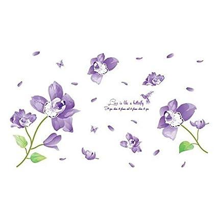 Vinyl 3d Muursticker.World Beauty S Nieuwe Bloemen Vinyl 3d Muurstickers Decoratie Voor