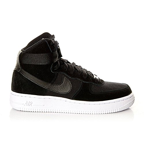 Nike Kids Air Force 1 High (GS) Black/Black/White Basketball Shoe 5 Kids US