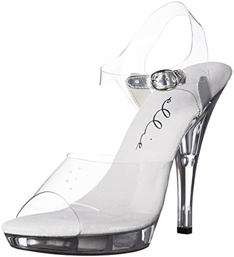 Ellie Shoes Women's 521-brook-w Heeled Sandal, Clear, 9 D US