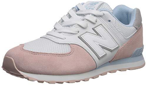 New Balance Girls' Iconic 574 V1 Running Shoe, Oyster Pink/AIR, 3.5 M US Big Kid