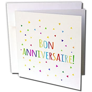 Amazon 3drose Bon Anniversaries Happy Birthday In French