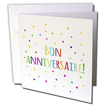 Amazon 3drose Bon Anniversaries Happy Birthday In French