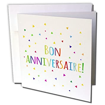 Amazon 3drose bon anniversaries happy birthday in french 3drose bon anniversaries happy birthday in french greeting cards 6quot x 6quot m4hsunfo