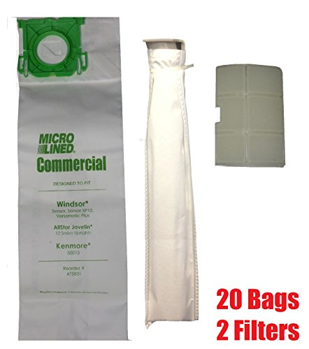 Bag Number - Sebo, Windsor Service Box Vacuum Bag and Filter Kit. 20 Bags + 2 Filters.