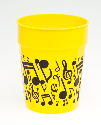 Music Notes Stadium Cup - Yellow Pack of 3