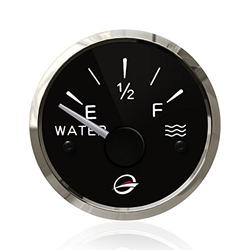 mm Electrical Water Tank Gauge - 12V Pure Liquid Meter 240-33 ohm Racing with Backlight Designed for Empty-Full Negative Ground Systems Includes a Resistor change to 24V (Full Range Digital Thermometer)