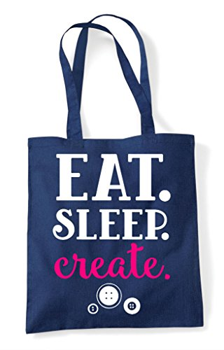 Sleep Create Statement Bag Eat Shopper Navy Tote Crafting Uq7ndAx8