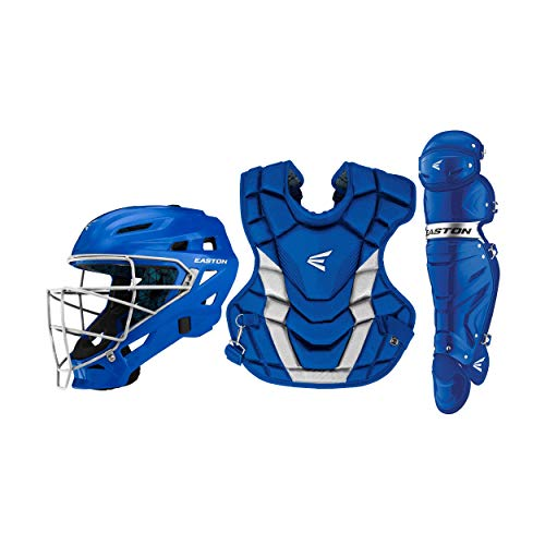 EASTON GAMETIME Catchers Equipment Box Set | Adult | Royal / Silver | 2020 | Royal Helmet Large | 17