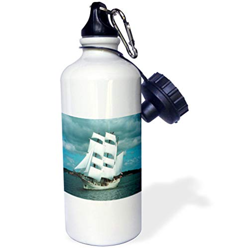 Whaling Boat (3dRose Florene Boat - An Old Whaling Ship - 21 oz Sports Water Bottle (wb_80568_1))