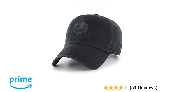 size 40 91e08 01a43 Amazon.com    47 NBA Golden State Warriors Clean Up Adjustable Hat, Black,  One Size   Clothing