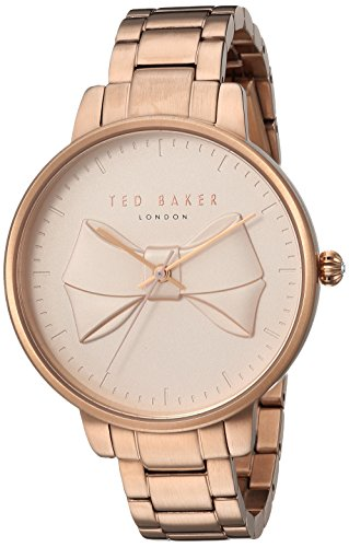Ted Baker Women's 'BROOK' Quartz and Stainless-Steel-Plated Casual Watch, Color:Rose Gold-Toned (Model: TE15197002)