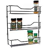 Spice Rack 3 Tiers Chrome Kitchen Organizer Storage Shelf Cabinet Holder