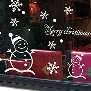 Wall sticker mural decal Quote Snowman Christmas White ...