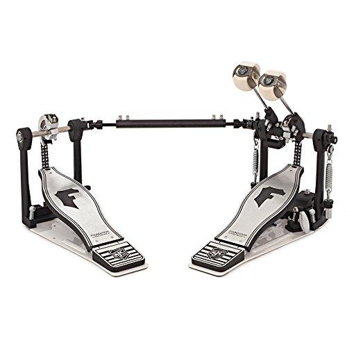 Heavy Duty Bass Drum Spurs - SJC Custom Drums FX-DP Foundation X Series Double Bass Pedal with Double Chain Cam & Bag