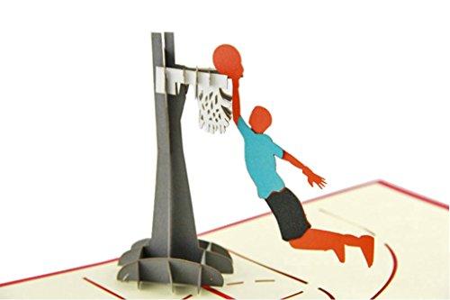 IShareCards 3D Pop Thank You Greeting Cards (Slam Dunk Basketball)