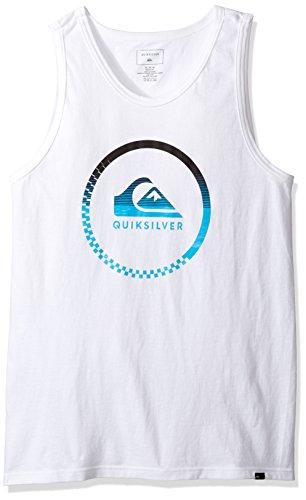 Quiksilver Men's Active Momentum Tank T-Shirt, White, Small