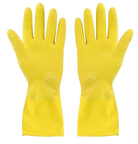 Elliott Medium Rubber Gloves, Yellow