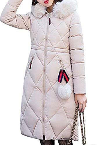 E Beige Piumini Con Chic Invernale Trench Puro Donna Fit Moda Outerwear Sciolto Addensare Colore Accogliente Slim Lunghe Parka Vento Giacca Ragazza Hot Cappuccio Invernali Sezioni Piumino Z44Y7w