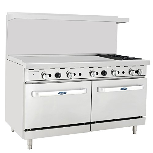 CookRite Commercial Natural Gas Range 2 Burner Hotplates With 48