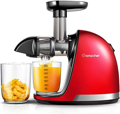 Amazon Com Juicer Machines Amzchef Professional Cold Press Juicer Extractor Machine Quiet Motor Slow Masticating Juicer With Brush Reverse Function For Fruit Vegetable Juice Kitchen Dining