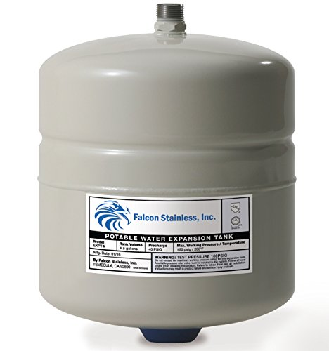 Falcon 4.8 G Potable Water Expansion Tank for up to 120-Gallon Water Heaters 5 Year Warranty