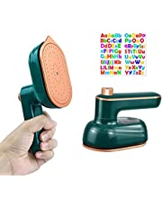 SuooTci Travel mini iron easy to carry Mini iron for clothes portable travel clothes ironhot press clothes ironing machine non-stick fast heating, small iron for clothes 220V 33W (Green)