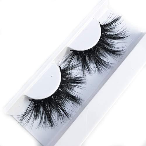 Mink Lashes High Volume Long Type 25MM 100% Siberian Mink False Eyelashes Hand Made Strips Fake Eyelashes Reusable Make…