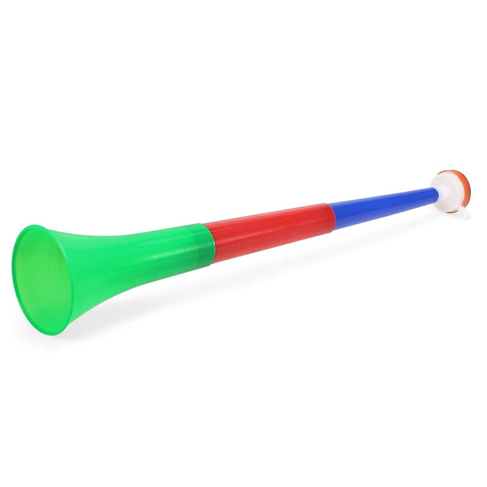 Explopur Bocinas de pl/ástico Vuvuzela Aficionados al f/útbol Aficionados a la Trompeta Bocinas Que animan para la Fiesta de Eventos Deportivos de f/útbol