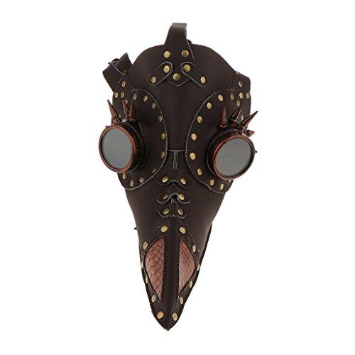 Baoblaze Halloween Leather Plague Bird Doctors Long Mouth Mask For Makeup -