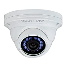 Night Owl Security, 1 Pack Add–On 1080p HD Wired Security Dome Camera – Audio Enabled (white)