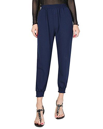 las Mujer Harem Pantalones Impresión Ancho Aladdin Pantalones con Cintura Alta 4