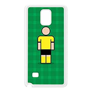 Dortmund White Silicon Rubber Case for Galaxy Note 4 by Blunt Football European + FREE Crystal Clear Screen Protector