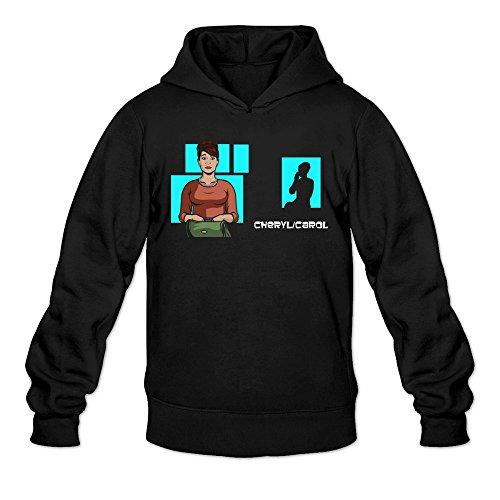 Men's Judy Greer Cheryl Tunt Archer Cartoon Hooded Sweatshirt - Watches Winnipeg Mens
