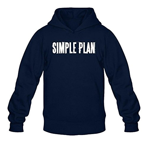 (Tommery Men's Simple Plan Logo Long Sleeve Sweatshirts Hoodie)