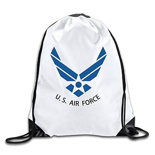 Price comparison product image Fashion U.S. Air Force Logo Drawstring Backpack Bag