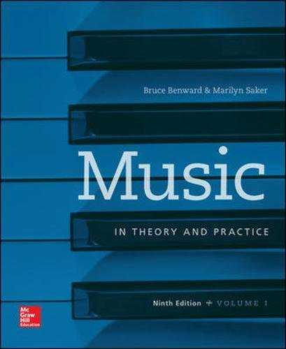 007802515X - Music in Theory and Practice Volume 1