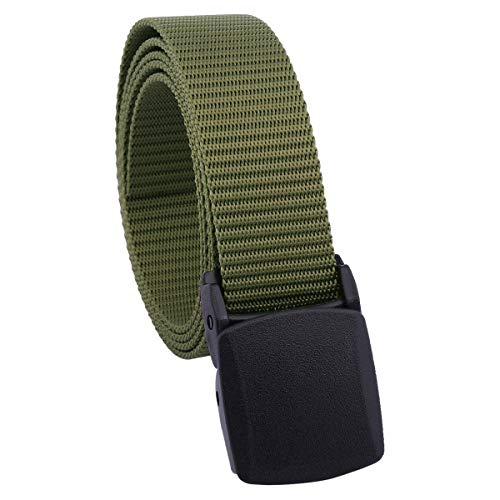 Style Adult Plastic Pants - Sportmusies Women's Nylon Webbing Military Style Tactical Duty Belt with Plastic Buckle, Army Green