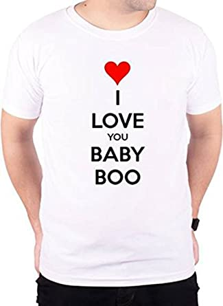 dy i love you baby boo printed t shirt size