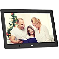 12 inch HD Digital Photo Frame - RUPPOLAR Electronic Photo Frame with Motion Sensor Remote Control Slideshow,8GB Auto-rotate Function/ Calendar/Clock Function,MP3/Photo/Video Player