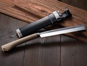 HONMAMON ''AZUMASYUSAKU'' Hatchet 240mm (abt 9.4 Inch) for Left Hander, Blade Edge : Aogami Steel