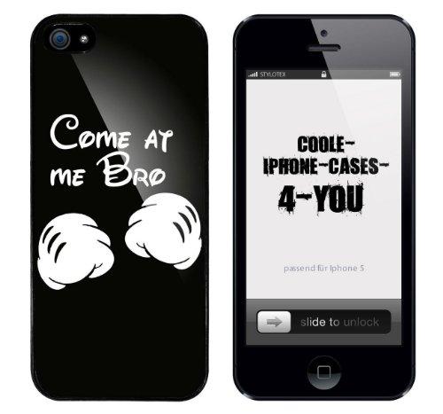 Iphone 5 / 5S Schutzhülle Come at me Bro (Hands) - schwarzer Rahmen