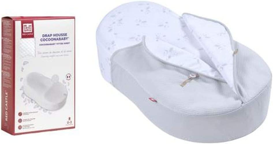 2.5 Tog and Additional Fitted Sheet Grey Dreamy Cloud Red Castle Cocoonababy Bundle with Cocoonacover