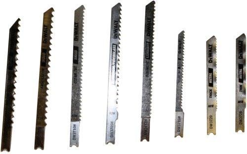DEWALT DW3792H 8 Piece HCS/HSS Jig Saw Blade Set Hss Jigsaw Blade Set