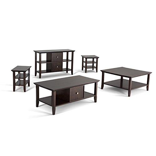 Simpli Home Acadian Solid Wood Narrow Side Table, Tobacco Brown by Simpli Home (Image #4)