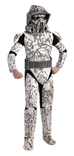 Rubie's Star Wars Clone Wars Child's Deluxe Arf Trooper Costume and Mask, (Broken Doll Costumes Ideas)