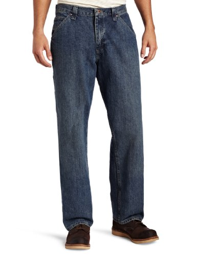 (LEE Men's Dungarees Losse-Fit Carpenter Jean - 30W x 34L - Worn Stone)