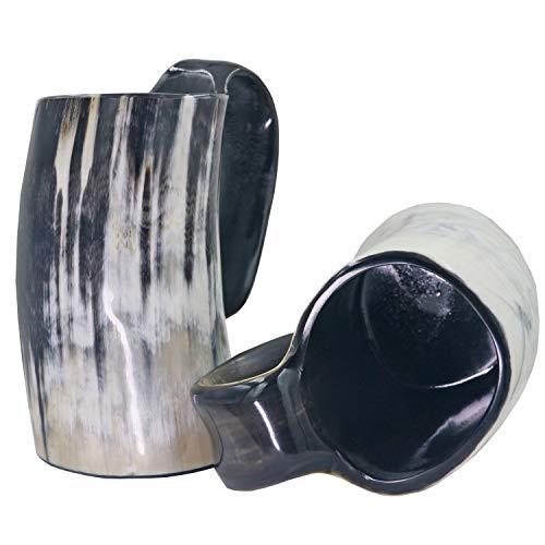 Viking Drinking Mug-Natural Ox Horn Drinking Mugs Beer Cups Viking Mugs by HORATII (Image #2)