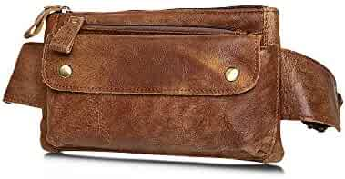 Fanny Pack Genuine Leather Belt Bag for Women or Men