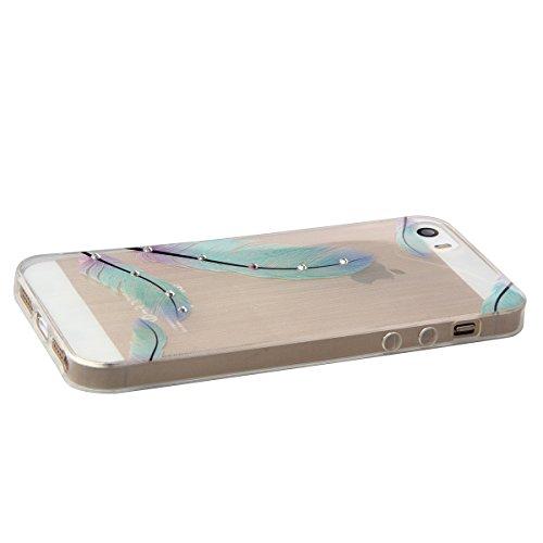 Coque pour iPhone 5s, iPhone 5s Coque en Silicone, iPhone 5 Coque en Silicone, iPhone 5s TPU Case Soft Cover, Ukayfe Etui de Protection Cas en caoutchouc en Ultra Slim Souple Cristal Clair Gel TPU Bum